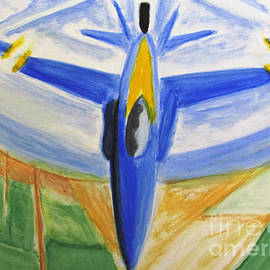 Blue Angels Wide Angle Lens by Stanley Morganstein