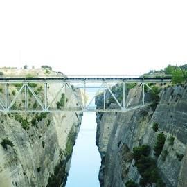 Bridge Crossing Corinth Canal In Greece by John Shiron