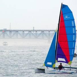 Lori Pessin Lafargue - Bright Sails on a Hazy Day