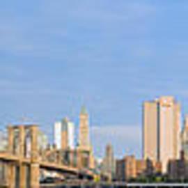 Brooklyn And Manhattan Bridges At Sunrise Crop2 by Val Black Russian Tourchin