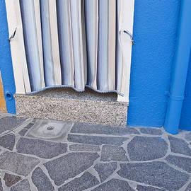Artecco Fine Art Photography - Burano Venice Italy Photograph Blue White Orange Wall Art