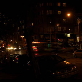 Busy Street In San Francisco At Night by Tom Luca