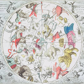 Andreas Cellarius - Celestial Planisphere Showing the Signs of the Zodiac