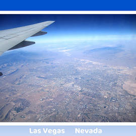 Collectible Art Print Photo Las Vegas Nevada From 35000 Ft Aerial View by John Shiron