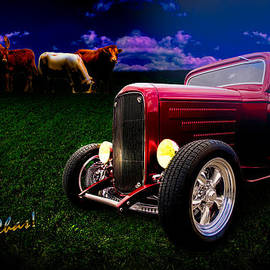 32 Ford Coupe Grazing With The Herd Cow Pasture Boogie by Chas Sinklier