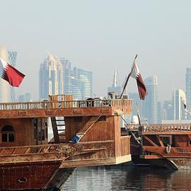 Paul Cowan - Dhows and Doha skyline