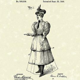 Dockham Bicycle Skirt 1896 Patent Art  by Prior Art Design