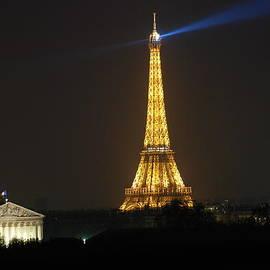 Eiffel Tower at Night by Jennifer Ancker