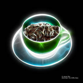 Electrifyin The Coffee Bean -Version Green by James Ahn