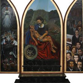 Emmett Till Memorial Triptych by Art Nomad Sandra  Hansen