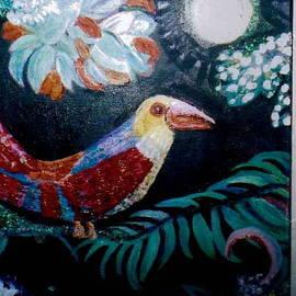 Anne-Elizabeth Whiteway - Ey Up Me Duck Parrot painting