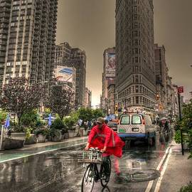 David Bearden - Flatiron in the rain