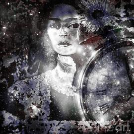 Frida in Black White by Fania Simon