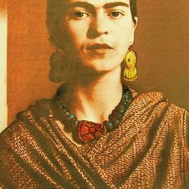 Frida In Sepia Two by Roberto Prusso