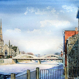 Frozen Shadows On The Grand by Hanne Lore Koehler