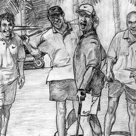 Fun N' Golf Pencil Portrait by Romy Galicia