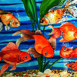 Gold Fishes by Johnson Moya