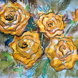 Gold Roses by Mindy Newman