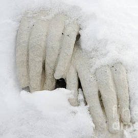 Matthias Hauser - Hands of a statue covered with snow