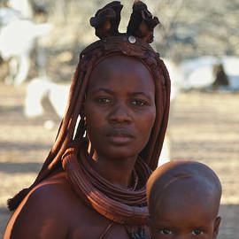 Himba Mother And Child by David Kleinsasser