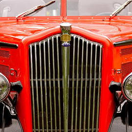 Karon Melillo DeVega - Historic Red Jammer Bus Glacier National Park