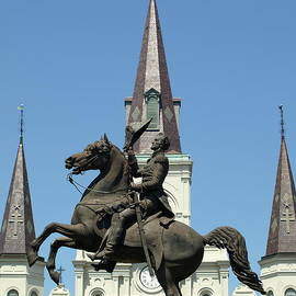 Jackson And The St. Louis Cathedral by Jeffrey Peterson