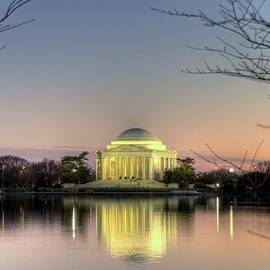 Terence  Russell - Jefferson Memorial at Dusk