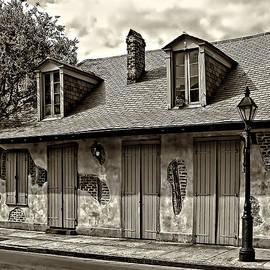 Lafittes Blacksmith Shop Bar in sepia by Kathleen K Parker