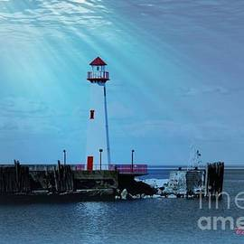 Tammie Carner - Light House Water Reflection