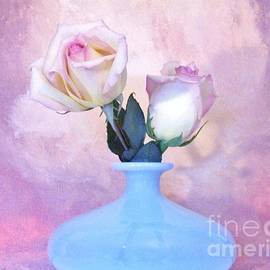 Light Pink Tipped Roses by Marsha Heiken