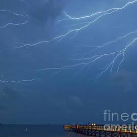 Lightning at Crystal Beach by Stephen Whalen