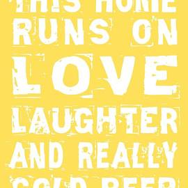 Love and Cold Beer Poster by Jaime Friedman