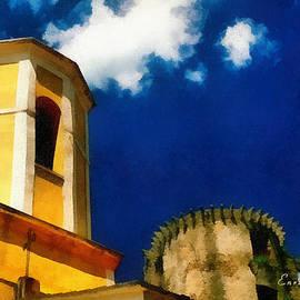 Madrignano Castello E Campanile by Enrico Pelos