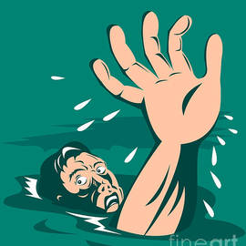 Aloysius Patrimonio - Man Reaching for Help Drowning