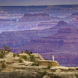 Man vs. Grand Canyon by Boris HD Photography