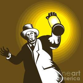 Aloysius Patrimonio - Man Wearing Top hat And Holding Lantern