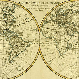 Guillaume Raynal - Map of the World in two Hemispheres