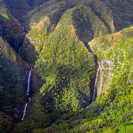 Molokai Hawaii Waterfalls by Scott McGuire