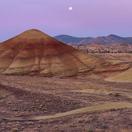 Leland D Howard - Moon and Painted Hills