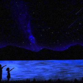 Mountain Lake Glow In The Dark Mural by Frank Wilson