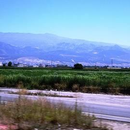 Mountain Range Towards Granada Spain by John Shiron