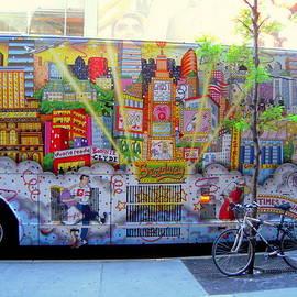 Don Struke - New York City Bus with Bike and Graffiti