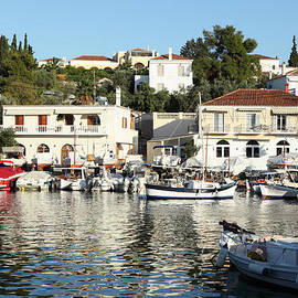 Old Harbour On Spetses Island by Paul Cowan