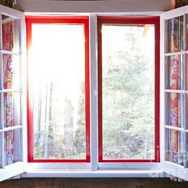 Open window in cottage by Elena Elisseeva