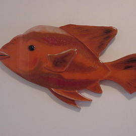 Orange Fish by Val Oconnor