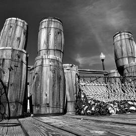 Oyster Barrels and Nets I by Steven Ainsworth