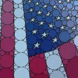 Percolated American Flag by Christine Segalas