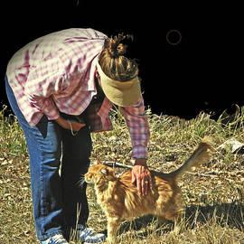 Lenore Senior and Dawn Senior-Trask - Petting the Ranch Cat