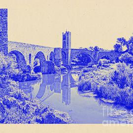 Pont Vell Besalu by Nigel Fletcher-Jones