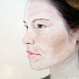 Jim Fitzpatrick - Profile of a Brown Haired and Lightly Freckled Beauty